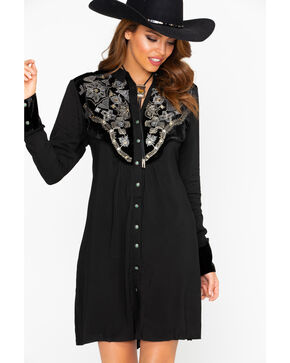 Tasha Polizzi Women's Regal Shirt Dress , Black, hi-res