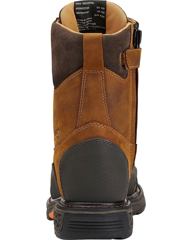 Side Zipper Work Boots - Steel Toe