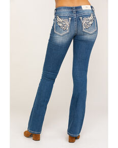 "Miss Me Women's Medium Mid Wing 34"" Bootcut Jeans, Blue, hi-res"
