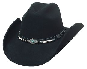 Bullhide Mojave Wool Cowgirl Hat, Black, hi-res