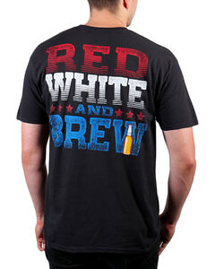 Cody James Men's Red White And Brew Short Sleeve T-Shirt , Black, hi-res