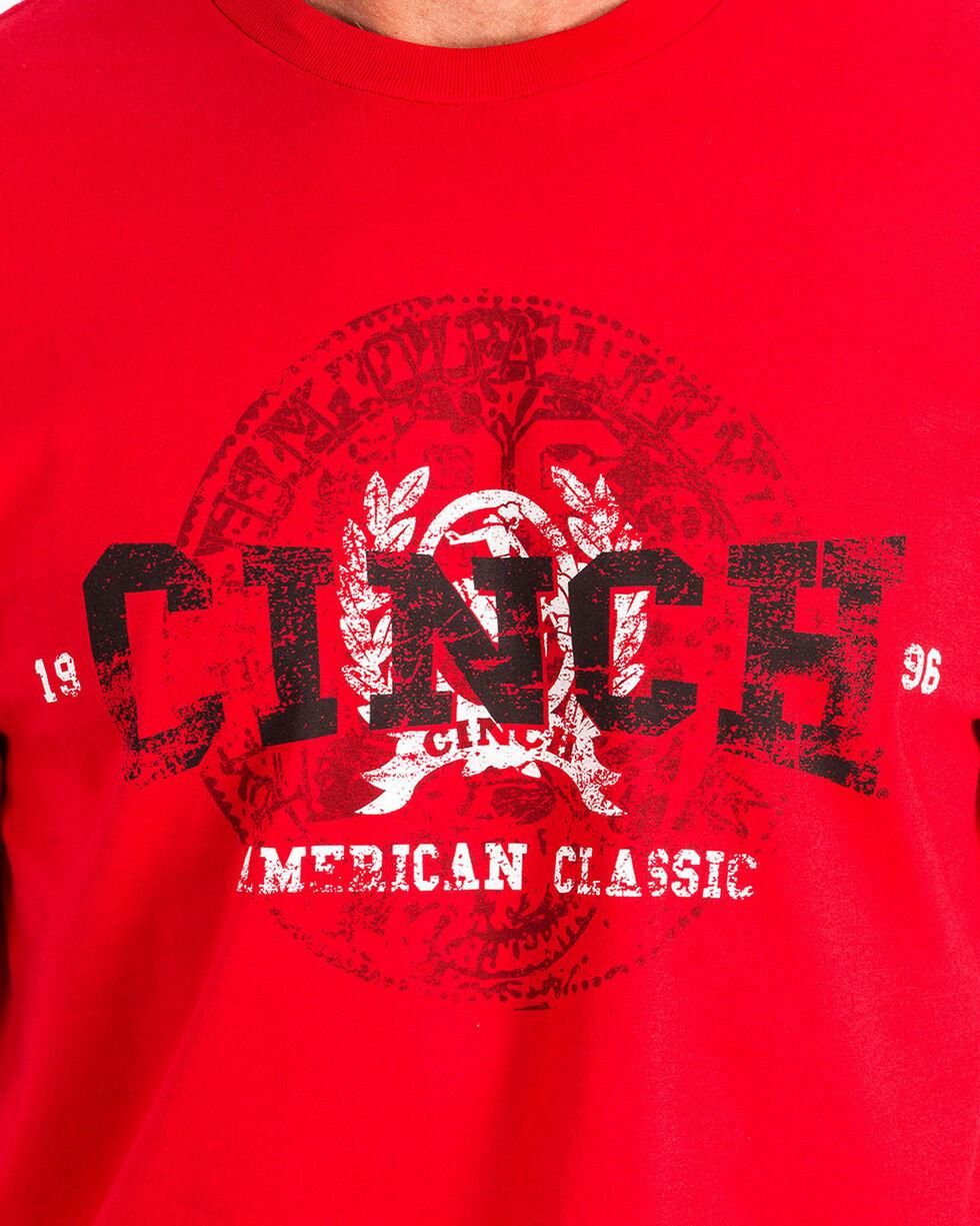 Cinch Men's Red Graphic Short Sleeve T-Shirt, , hi-res