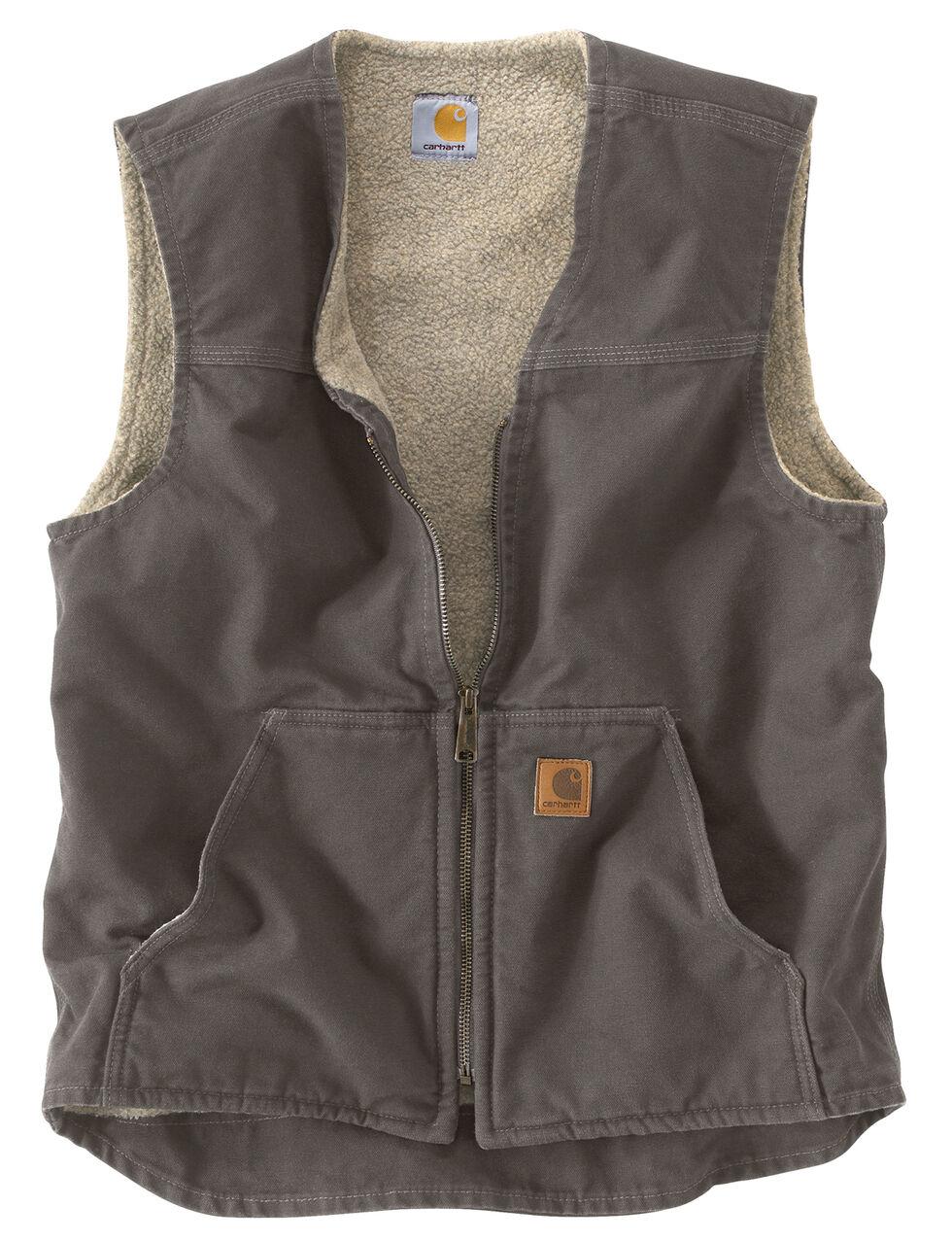 Carhartt Rugged Work Vest - Big & Tall, Grey, hi-res