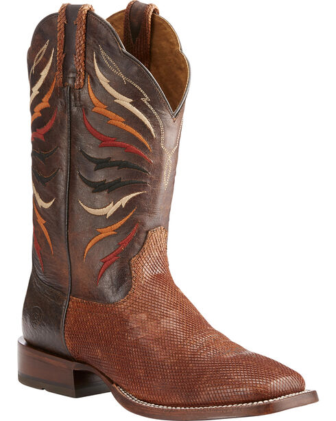 Ariat Men's Switchblade Sable/Gunfire Gray Cowboy Boots - Square Toe, Brown, hi-res