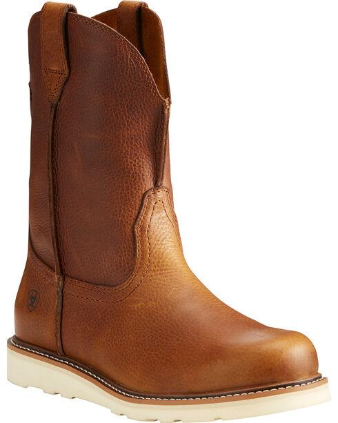 Ariat Men's Rambler Recon Brown Work Boots - Round Toe, Brown, hi-res
