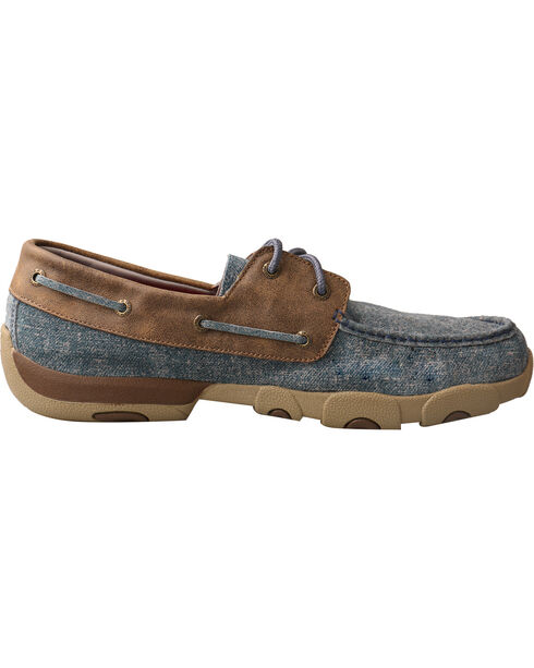 Twisted X Men's Denim Driving Moc - Moc Toe, Multi, hi-res