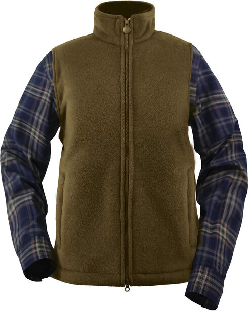 Outback Trading Company Men's Summit Fleece Vest, Dark Green, hi-res
