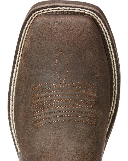 Ariat Women's Brown Riata II Western Boots - Square Toe , Dark Brown, hi-res