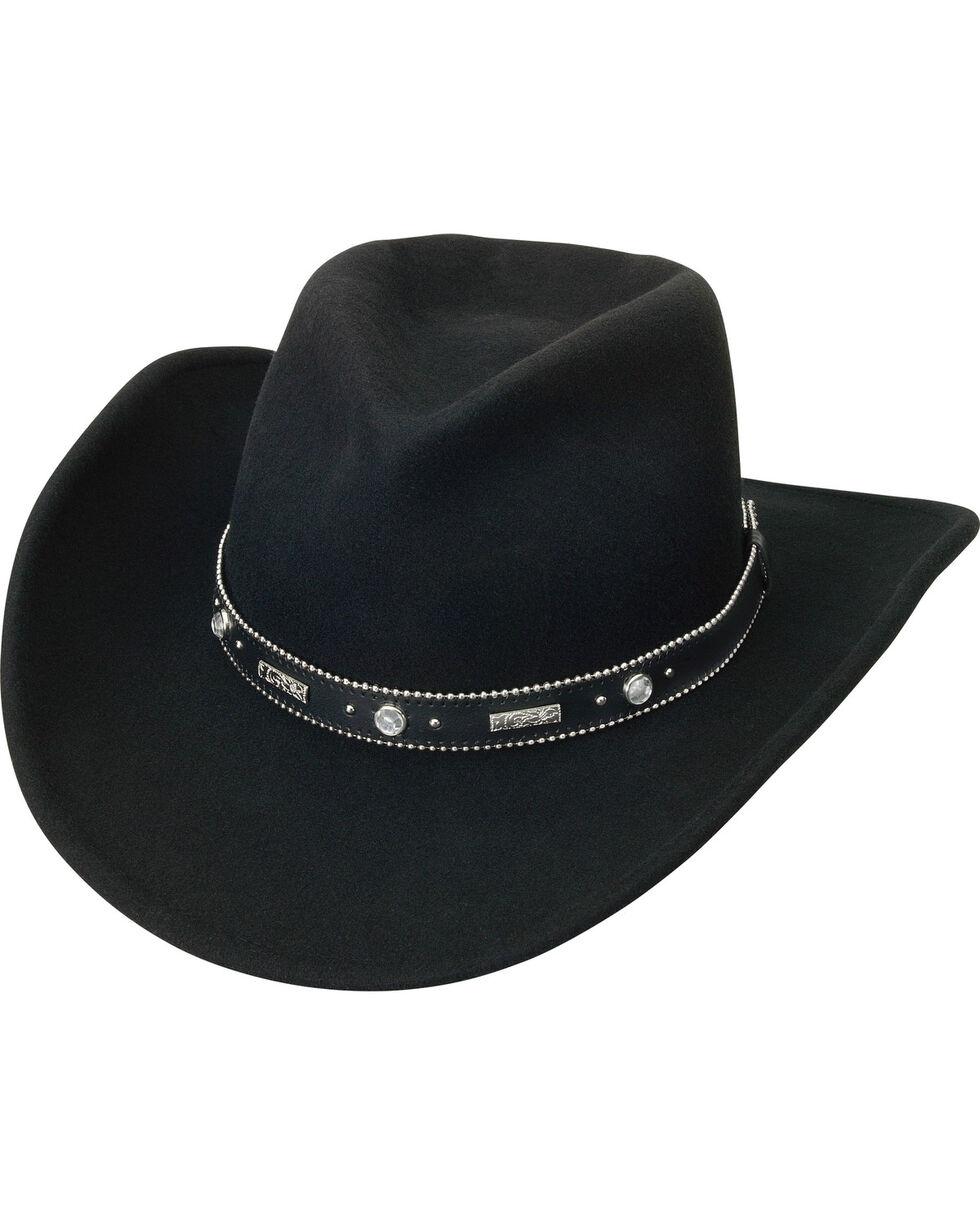 "Silverado Women's Crushable Wool 3 1/4"" Bendable Brim Hat, Black, hi-res"