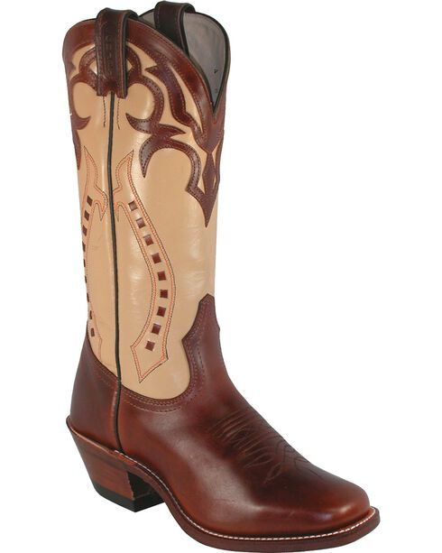 Boulet Ranch Hand Cowgirl Boots - Square Toe, Tan, hi-res