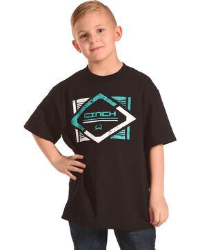 Cinch Boys' Black Diamond Graphic Tee , Black, hi-res
