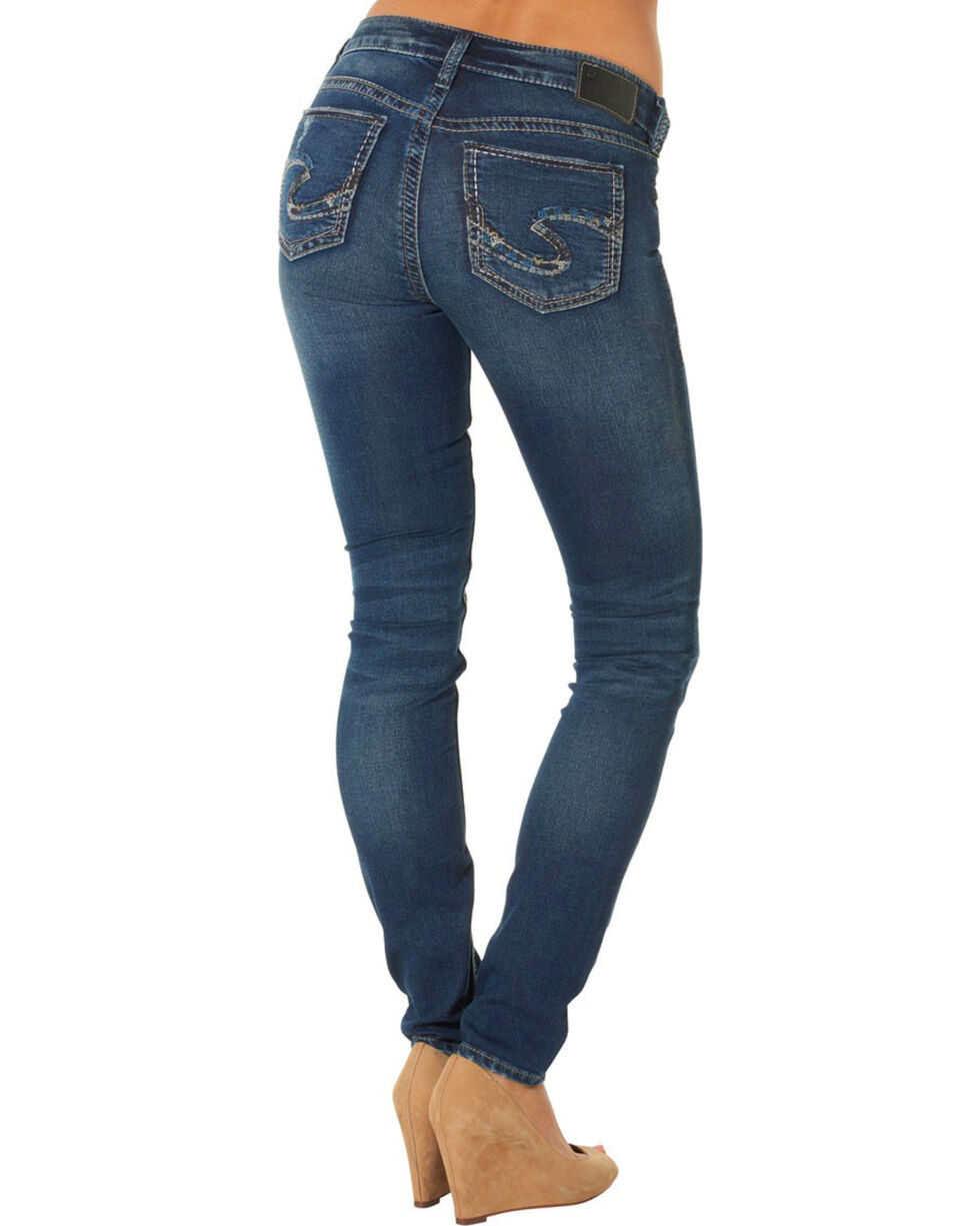Womens Suki Mid Super Skinny Jeans Silver Jeans Co