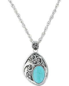 Montana Silversmiths Women's Silver Earth Winds Necklace , Silver, hi-res