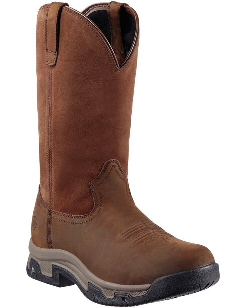 Ariat Terrain H2O Pull-On Boots - Round Toe, Distressed, hi-res