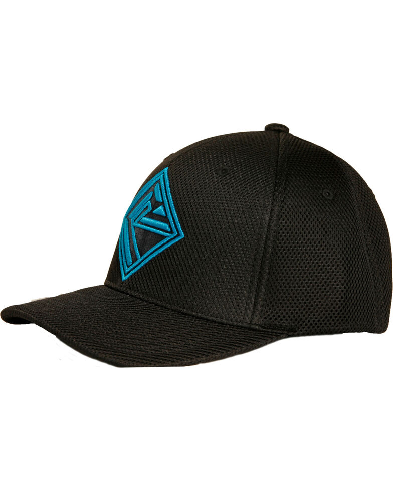 Rock & Roll Denim Men's Black Flexfit Sports Mesh Cap , Grey, hi-res