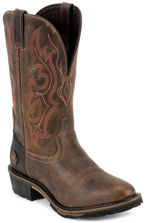 Justin Men's Hybred Cochise Western Work Boots - Soft Toe, Rugged, hi-res