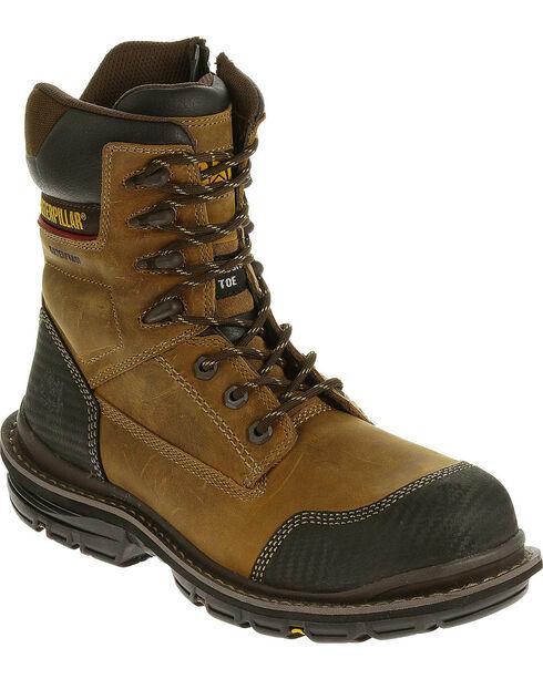 "Caterpillar Men's Fabricate 8"" Tough Waterproof Boots - Composite Toe, Brown, hi-res"