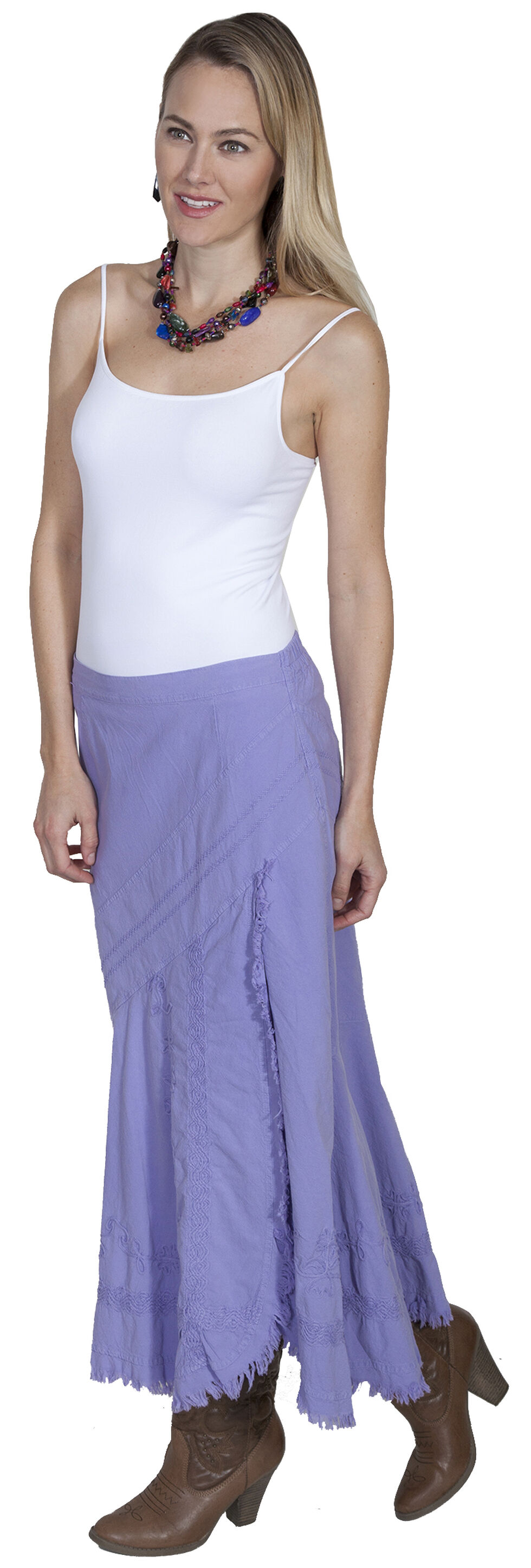 Scully Embroidered Western Skirt, Violet, hi-res