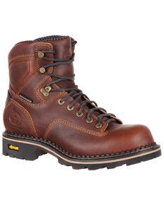 Georgia Boot Men's Comfort Core Waterproof Logger Boots - Composite Toe, Dark Brown, hi-res