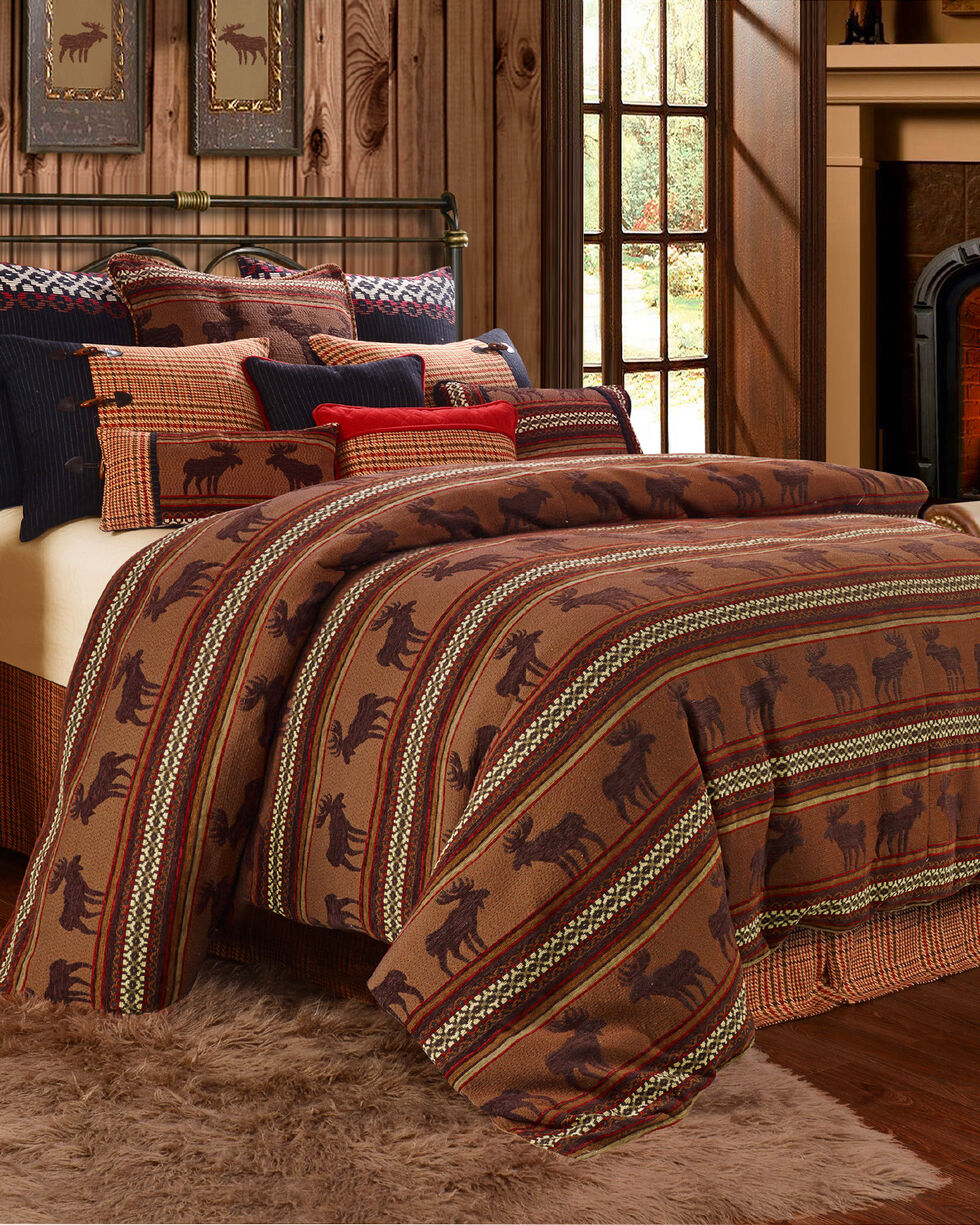 HiEnd Accents Bayfield Moose 5-piece Queen Duvet Set, Multi, hi-res