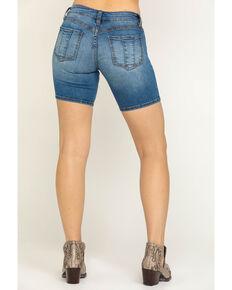 Shyanne Women's Light Wash Tie Front Shorts, Blue, hi-res