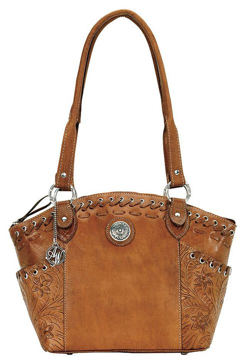 American West Harvest Moon All Access Bucket Tote, Brown, hi-res