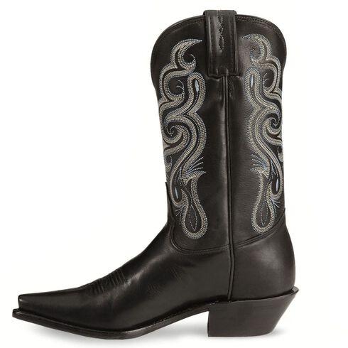 Tony Lama Stallion Leather Americana Cowgirl Boots, Black, hi-res