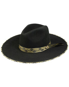Stetson Women's Black Bowie Wool Felt Western Hat , Black, hi-res