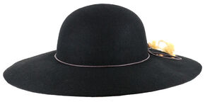 Shyanne Women's Delia Floppy Felt Hat, Black, hi-res