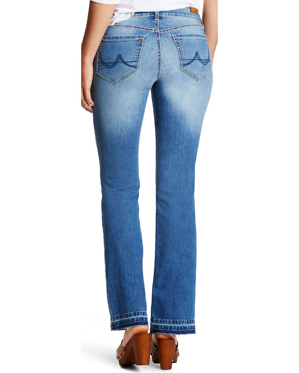 Ariat Women's Ultra Stretch Cropped Straight Jeans , Indigo, hi-res