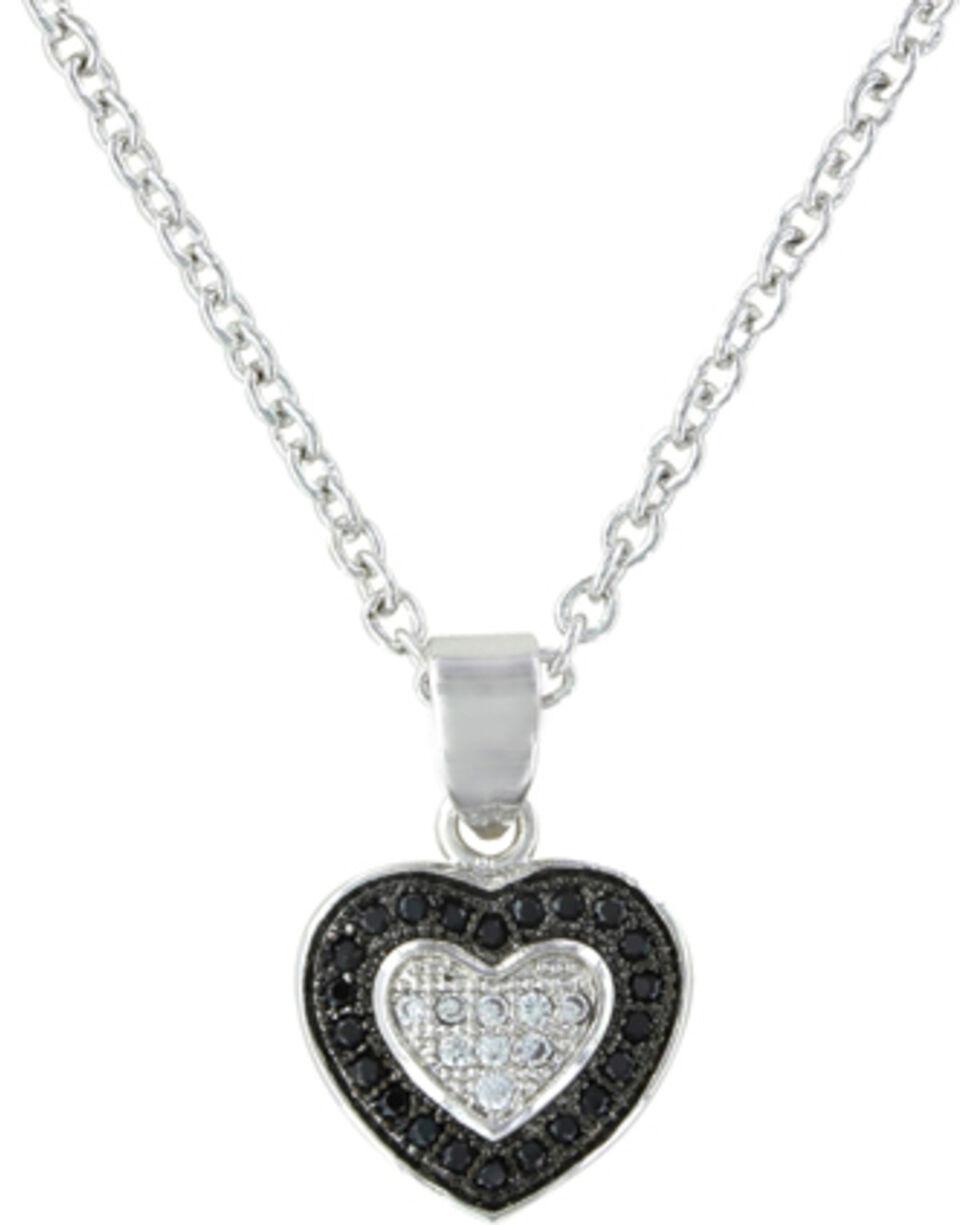 Montana Silversmiths Double Layer of Love Necklace, Silver, hi-res