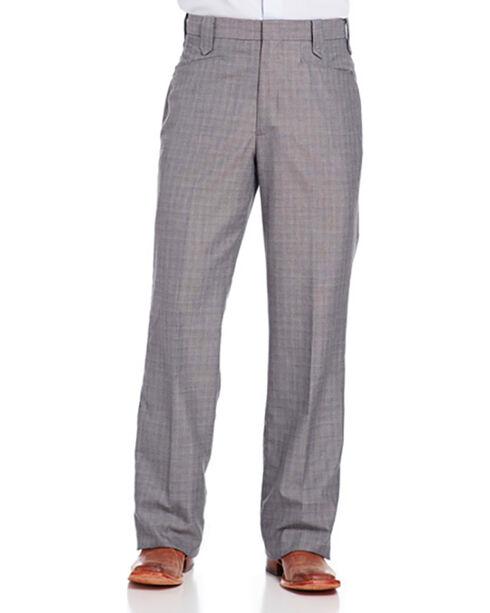 Circle S Men's Grey Suited Separates Ranch Pants - Straight Leg, Grey, hi-res