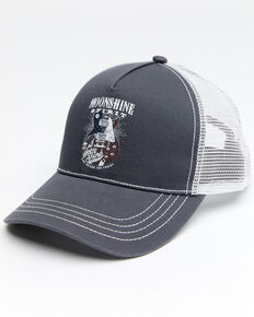 Moonshine Spirit Men's Flag Guitar Mesh Cap , Grey, hi-res