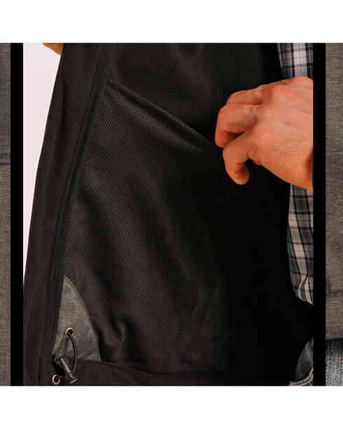 Tuf Cooper Men's Softshell Bonded Jacket, Black, hi-res
