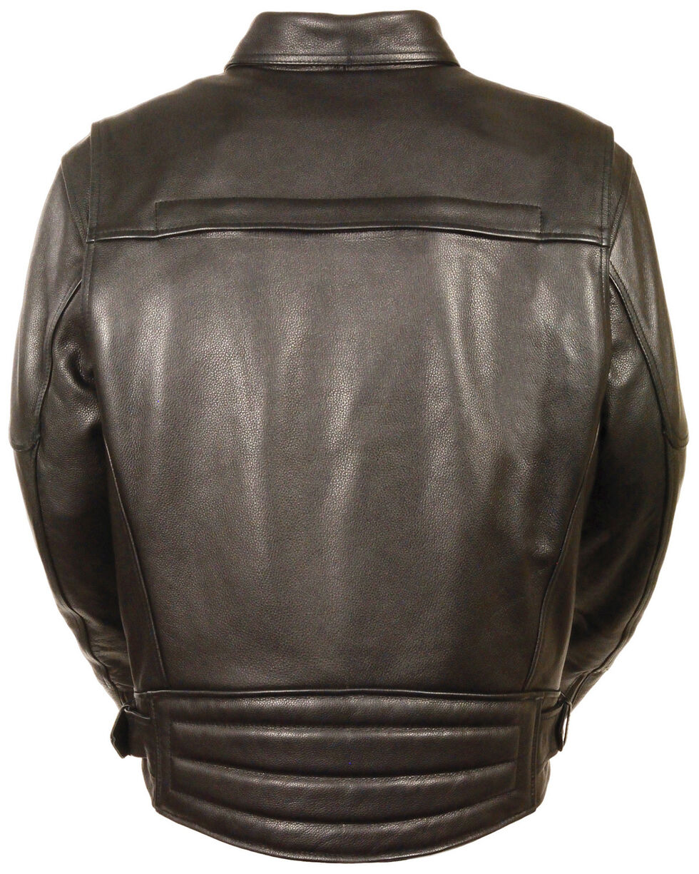 Milwaukee Leather Men's Side Belt Utility Pocket Motorcycle Jacket - 4X, Black, hi-res