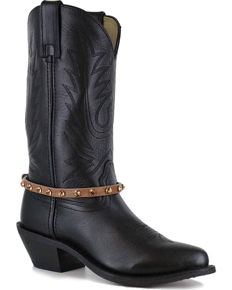 Shyanne Women's Crystal Boot Bracelet , Brown, hi-res