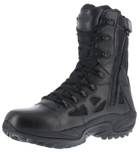 "Reebok Men's Rapid Response 8"" Work Boots, Black, hi-res"