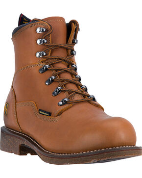 "Dan Post Honey Tan Detour Waterproof 7"" Lace-Up Boots - Steel Toe , Honey, hi-res"