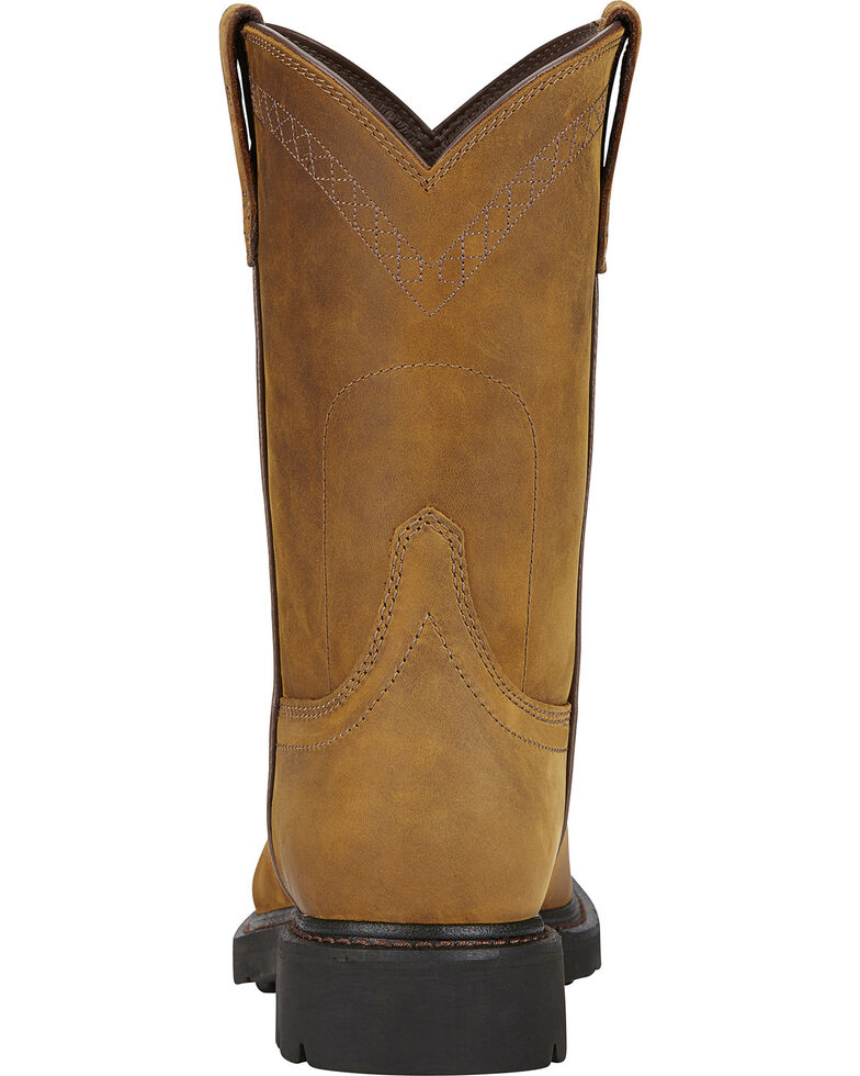 Ariat Men's Sierra Western Work Boots, Aged Bark, hi-res