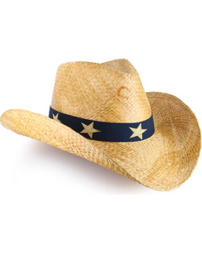 Charlie 1 Horse Flag Straw Hat, Natural, hi-res