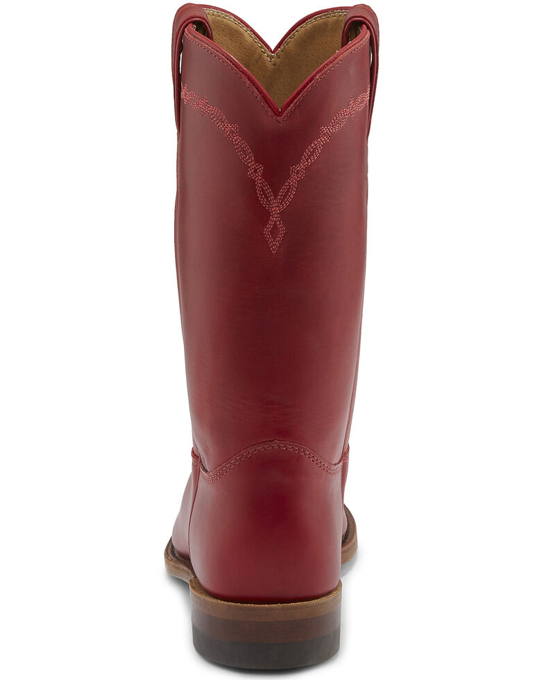 Justin Women's Bernice Western Boots - Round Toe, Red, hi-res