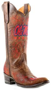 08049ab42c2de2 Gameday University of Mississippi Cowgirl Boots - Pointed Toe