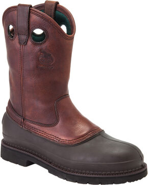 Georgia Mud Dog Work Boots - Steel Toe, Brown, hi-res