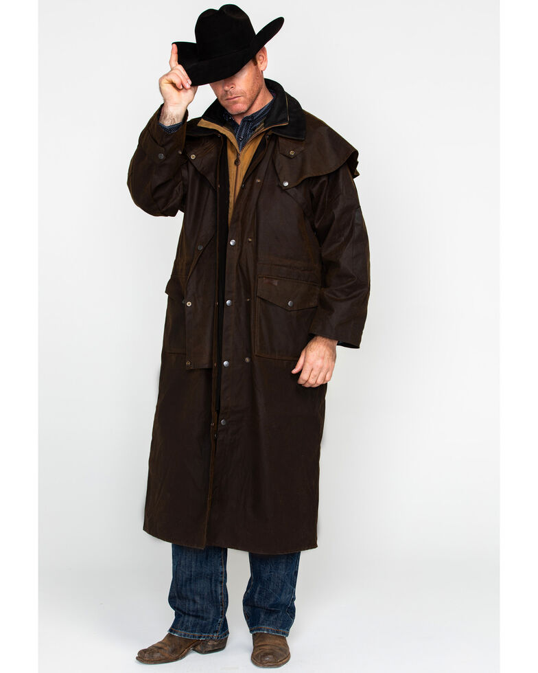 Outback Trading Co. Stockman Oilskin Duster, Bronze, hi-res