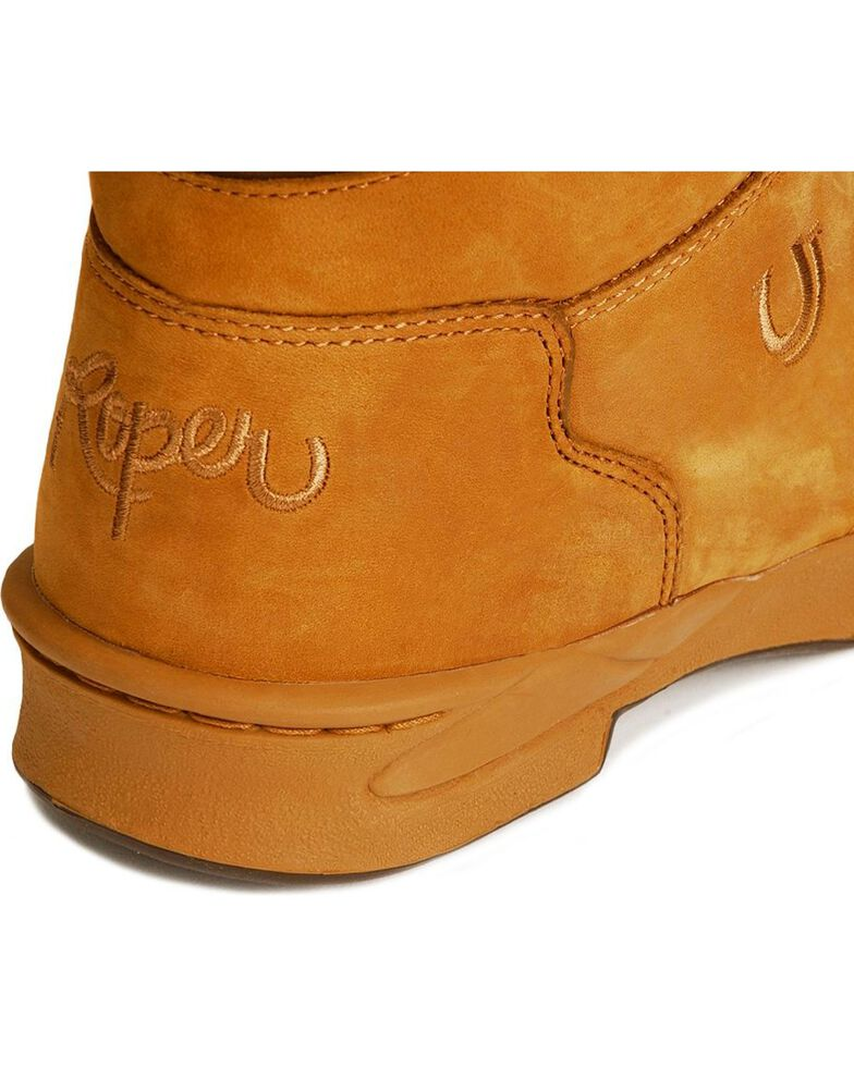 Roper Men's Amber Brown HorseShoes Classic Original Boots, Amber Brn, hi-res