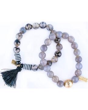 Sincerely Mary Women's Porto 2 Piece Bracelet Set, Black, hi-res