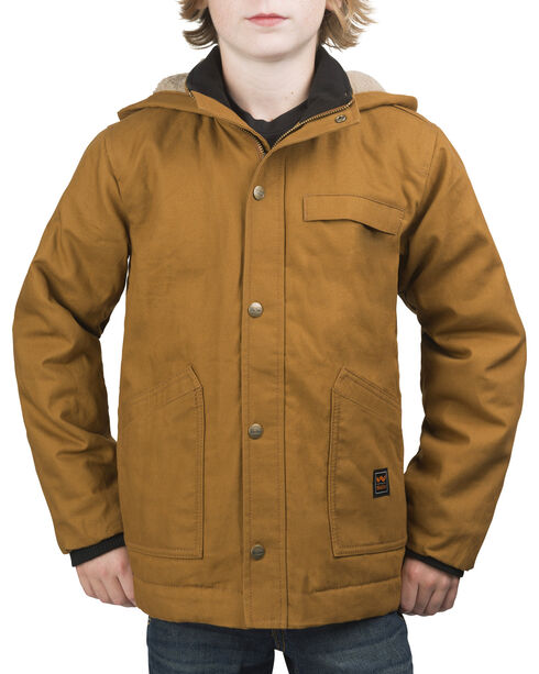 Walls Youth Cameron Insulated Hooded Jacket, Pecan, hi-res