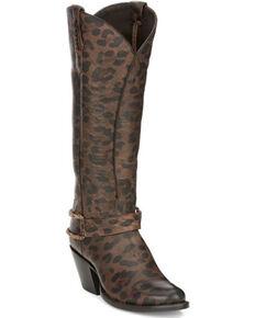 Tony Lama Women's Leti Western Boots - Round Toe, Cheetah, hi-res