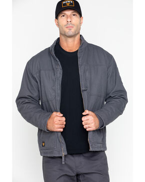 Hawx® Men's Canvas Work Jacket , Charcoal, hi-res