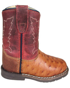 Smoky Mountain Toddler Girls' Autry Western Boots - Square Toe, Cognac, hi-res